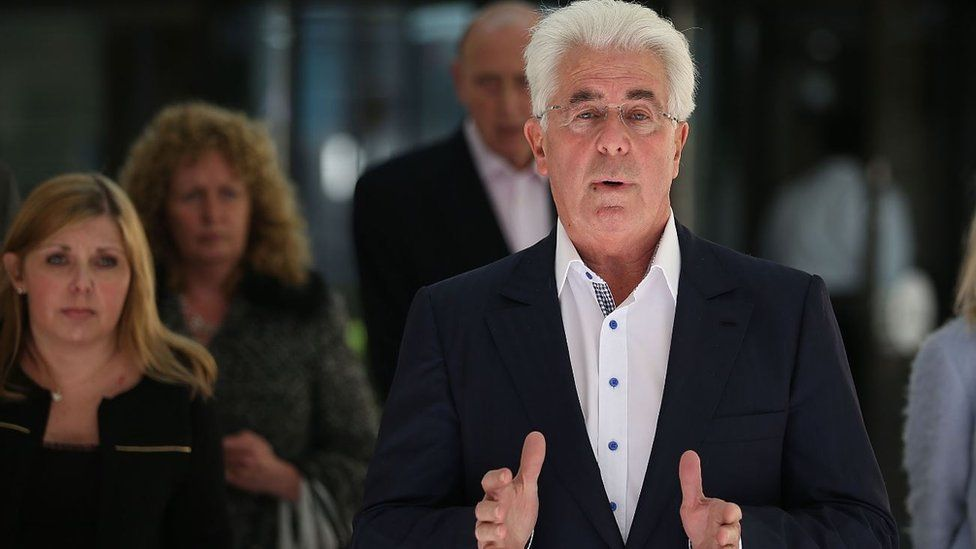 Max Clifford next to his daughter Louise
