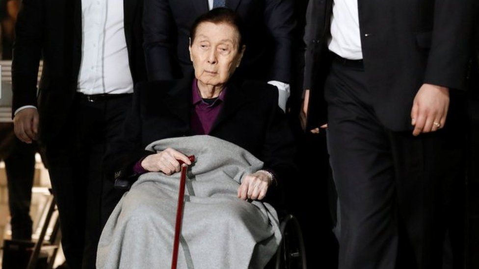 Lotte Group Founder Shin Kyuk-ho arrives for a trial at a court in Seoul, South Korea, March 20, 2017