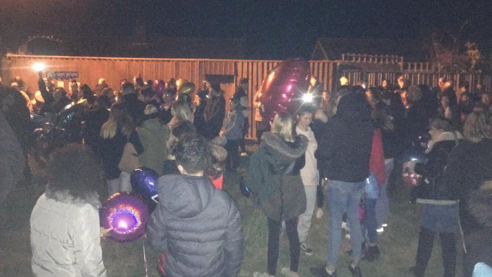 Crowds at Whitton recreation ground