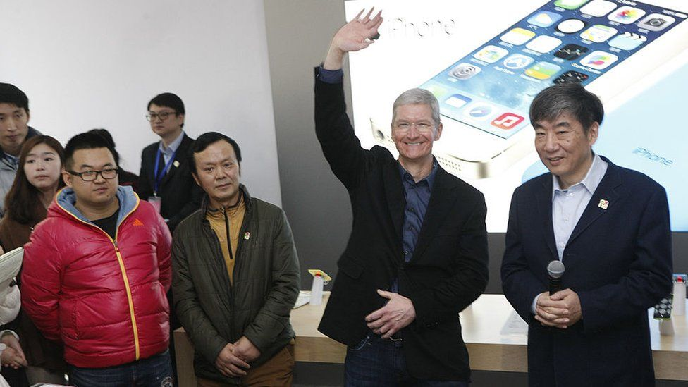 Tim Cook in Beijing