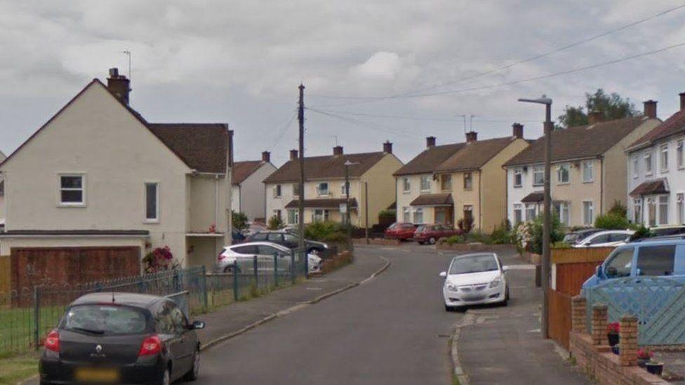 Street view of St David's Crescent, Penarth