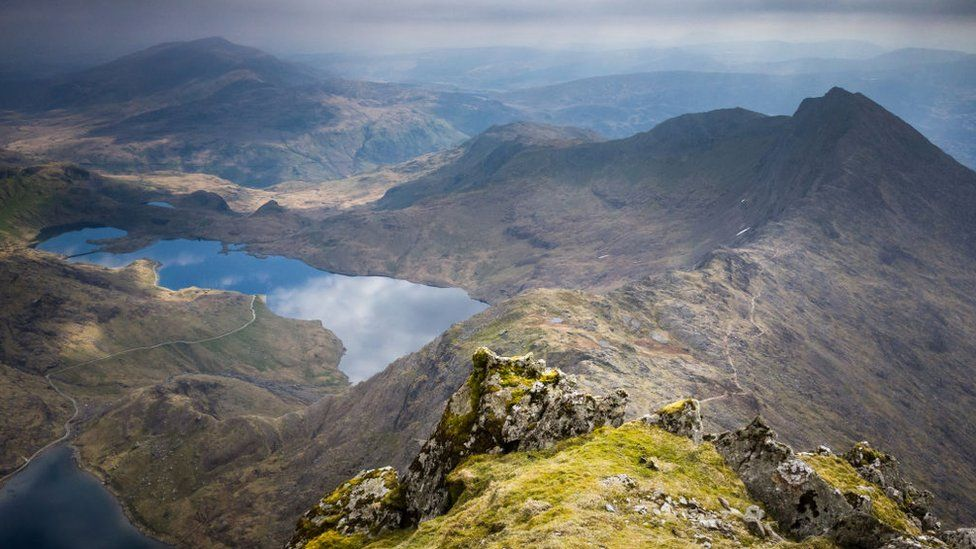 View from summit of Snowdon