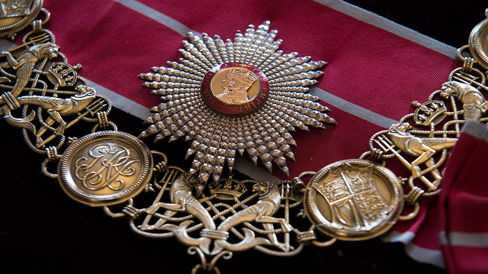 The British Empire Breast Star and Badge and the British Empire Collar will be on display