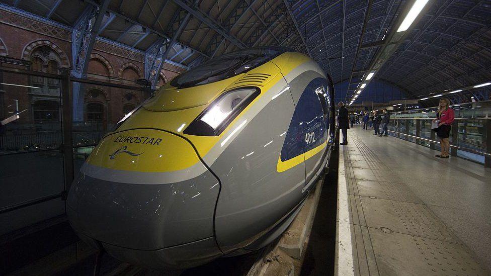 Eurostar train built by Siemens
