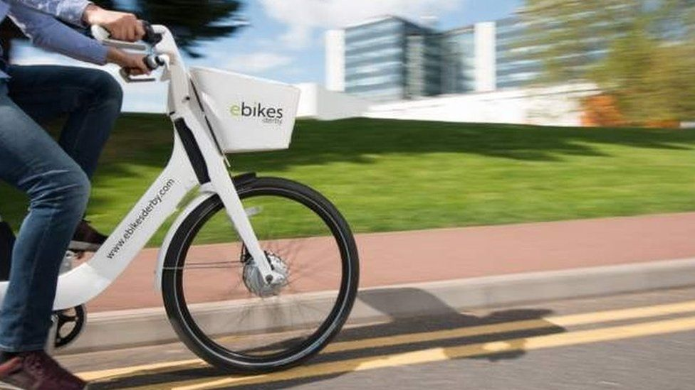 e-bike being used in Derby