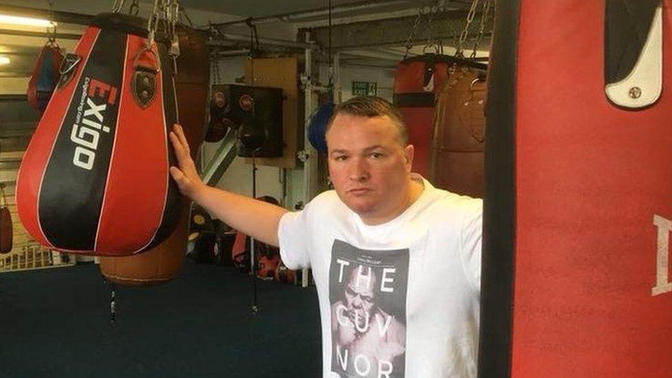Bradley Welsh in boxing gym
