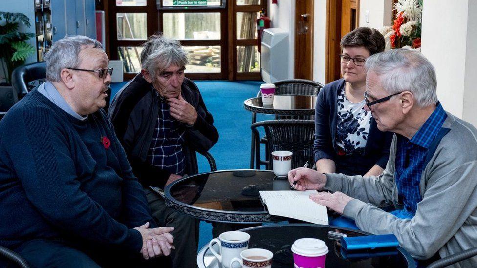UN special rapporteur Philip Alston at a meeting in Clacton-on-Sea, Essex