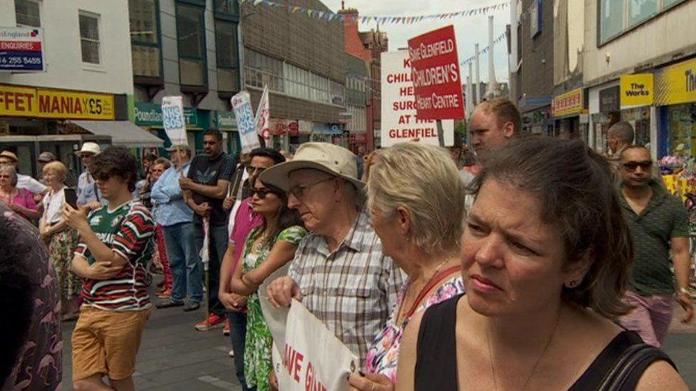 Glenfield Hospital protest