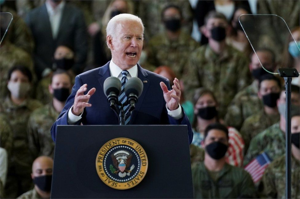 Joe Biden at Mildenhall