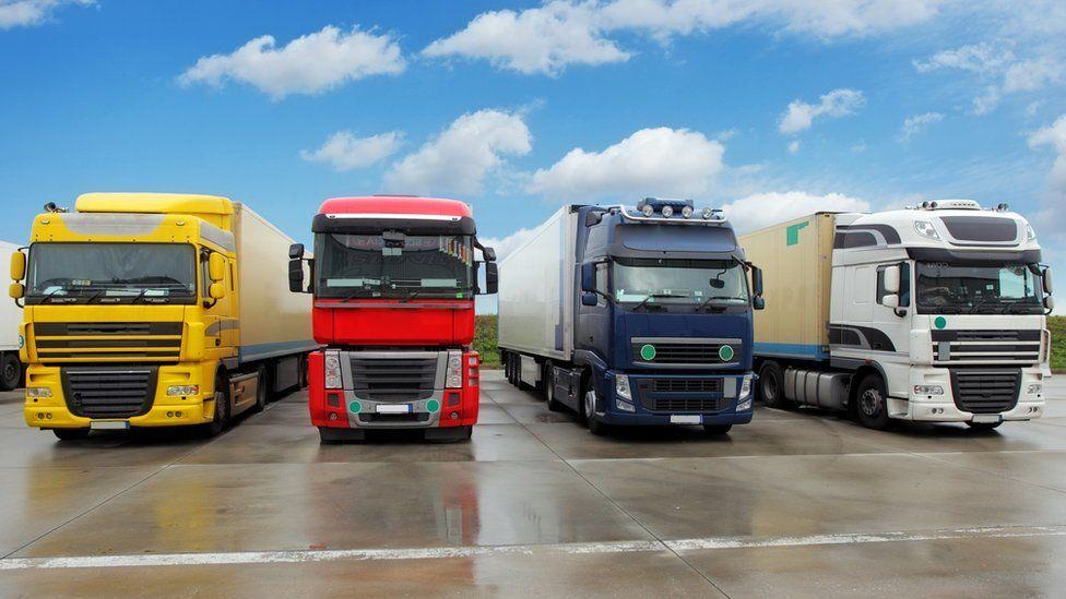 Four trucks