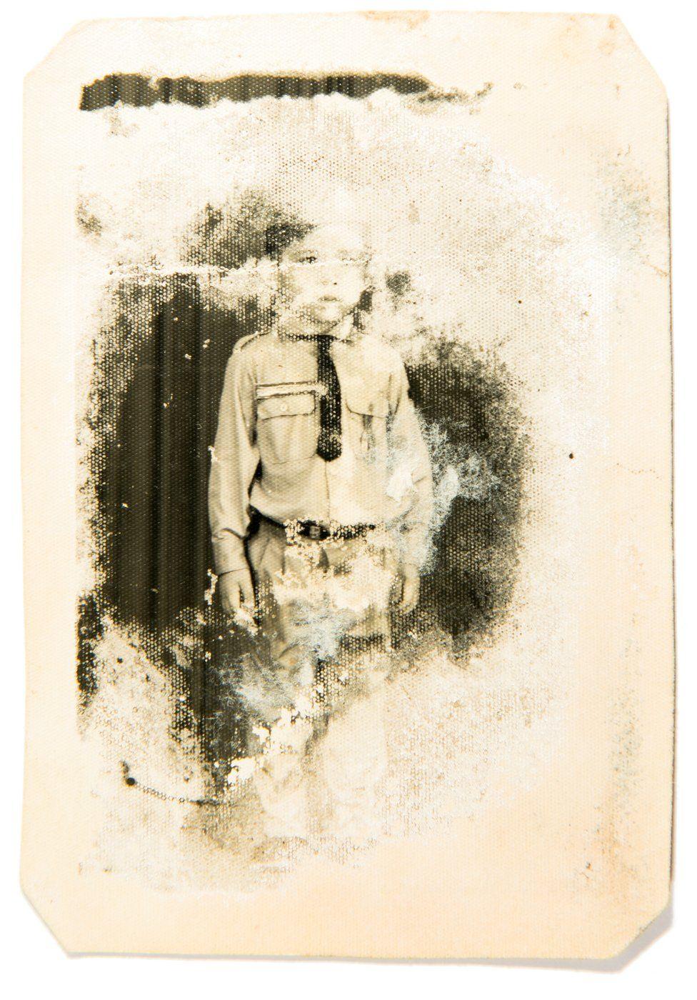 Vira in Khmer uniform