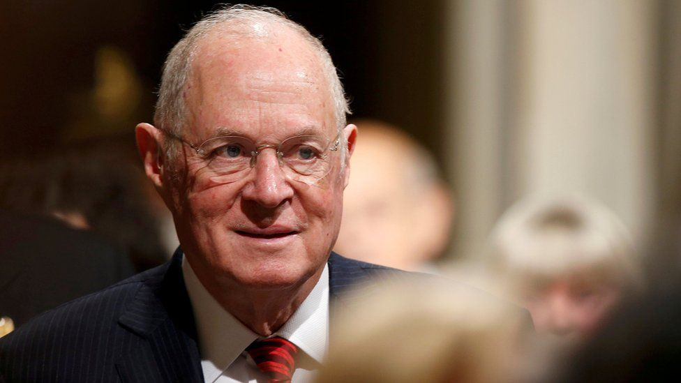 US Supreme Court Justice Anthony Kennedy arrives for President Trump's address to a Joint Session of Congress in Washington, 28 February 2018