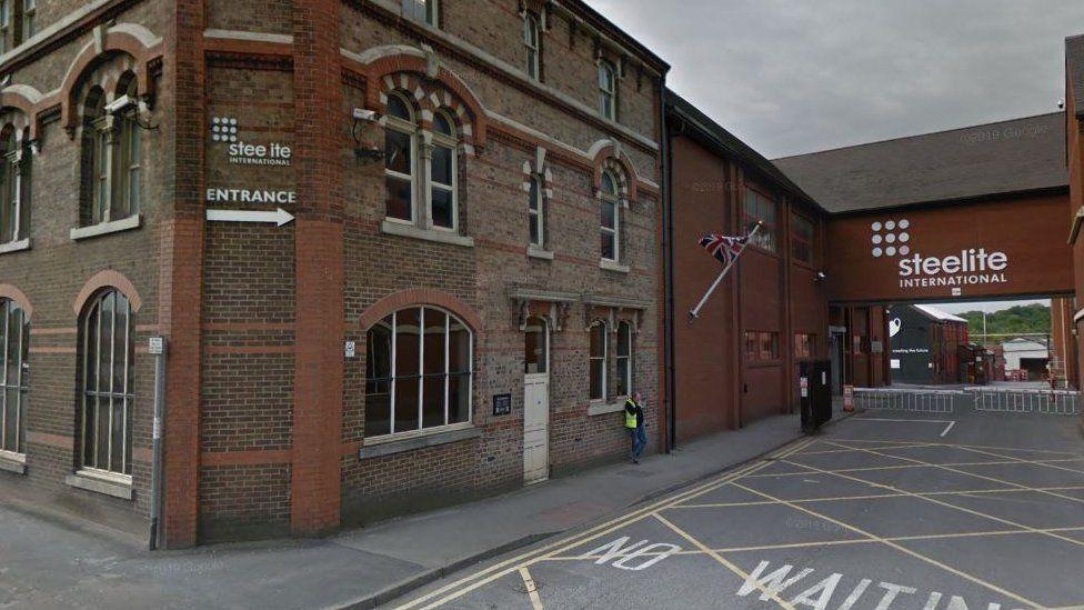 The company's premises in Stoke-on-Trent