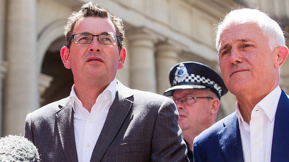 Victorian Premier Daniel Andrews and Prime Minister Malcolm Turnbull at a press conference last year