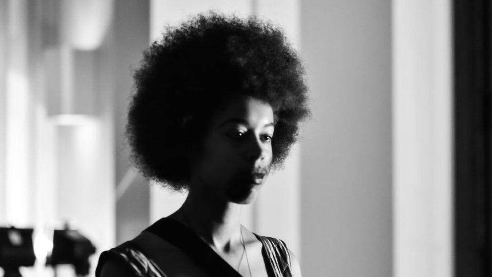 Woman with afro