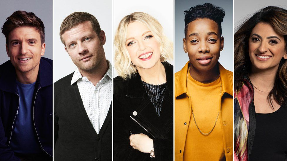 Greg James, Demot O'Leary, Lauren Laverne, Dotty and Harpz Kaur