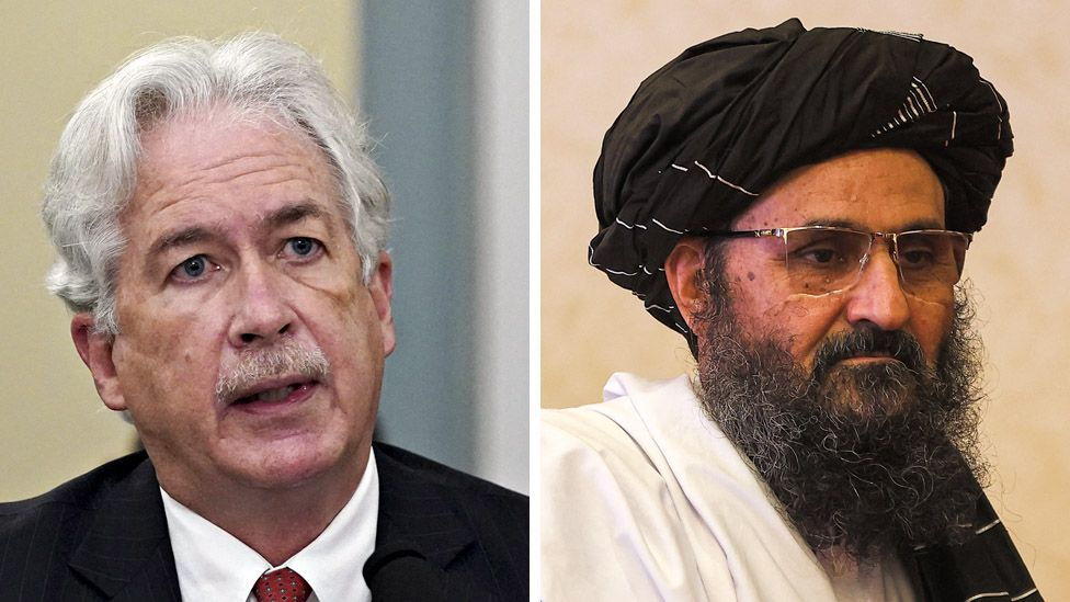 CIA director William Burns and Taliban leader Mullah Baradar