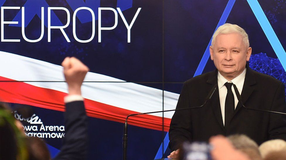 Jaroslaw Kaczynski, leader of PiS party (Law and Justice) in 2019
