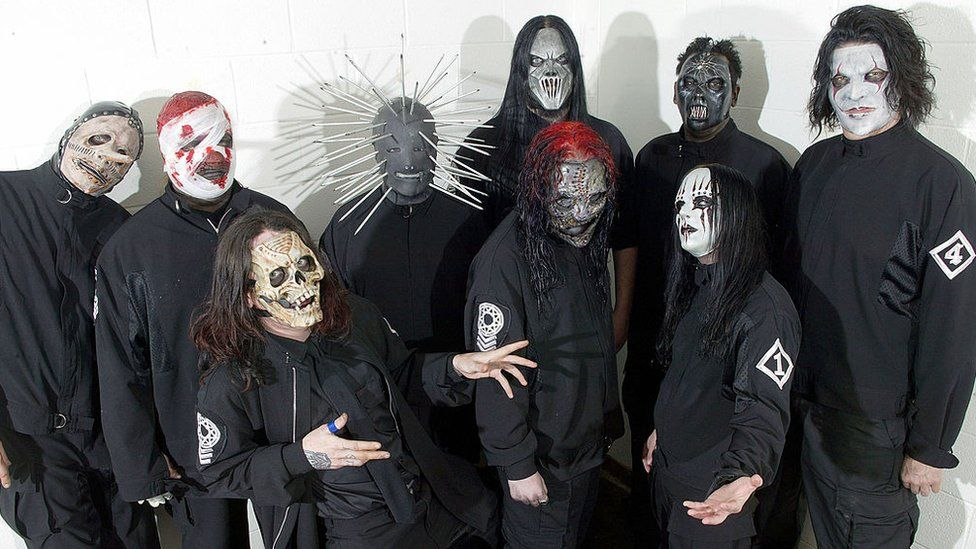Photograph of Slipknot around year 2000