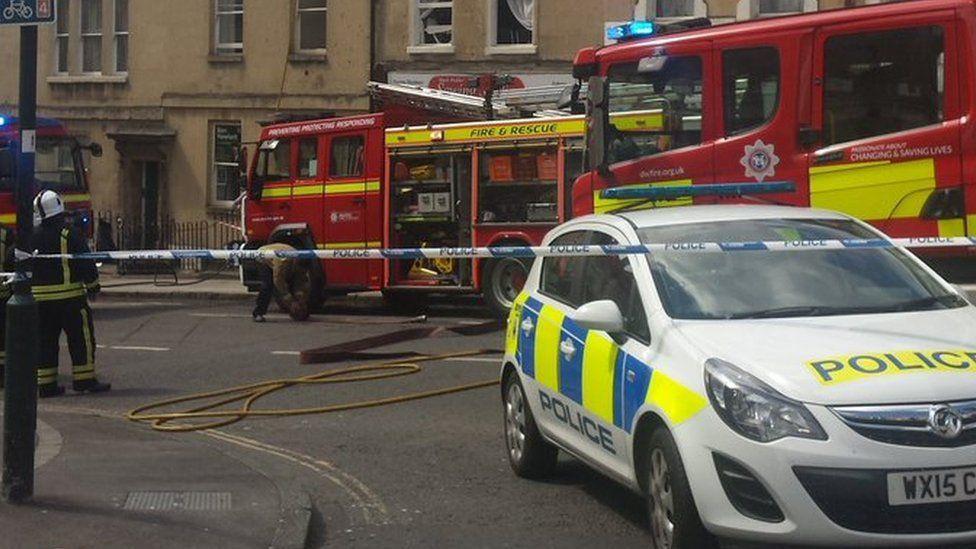 Fire in Bath