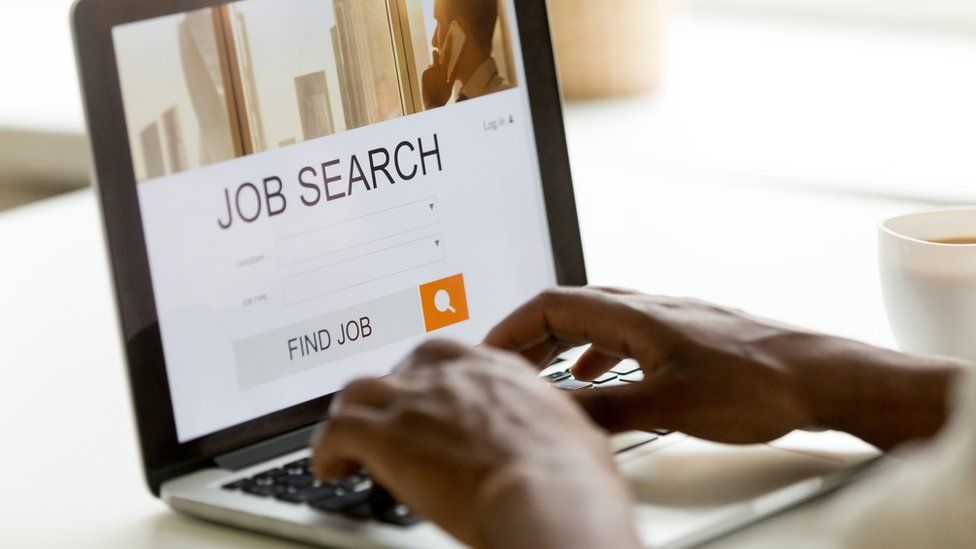 Person searches job site
