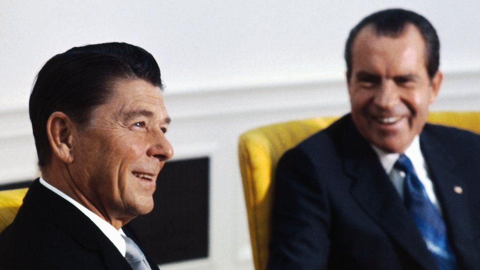 Ronald Reagan and Richard Nixon pictured in 1971