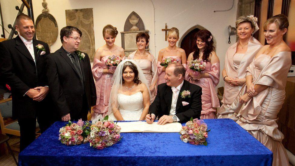 Caroline Jones gets married