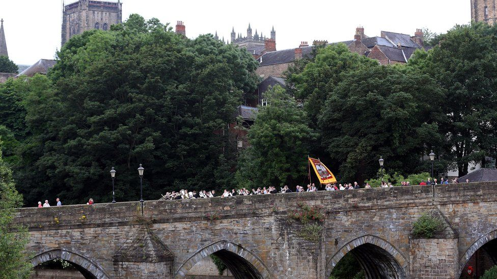 Marchers at the Durham Miners' Gala
