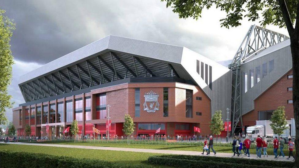 Artist impression of LFC stadium