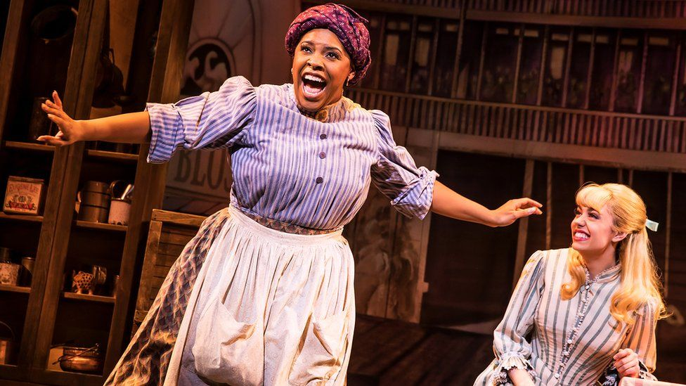 Left to right: Bryonha Marie Parham and Kaley Ann Voorhees in Show Boat the musical