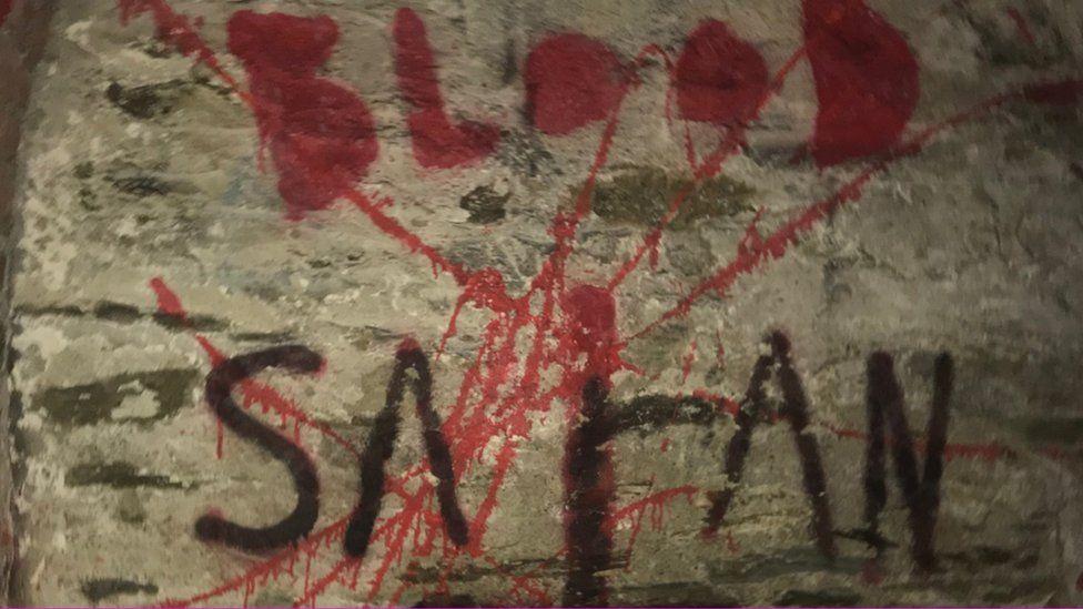 Graffiti at Fort Austin