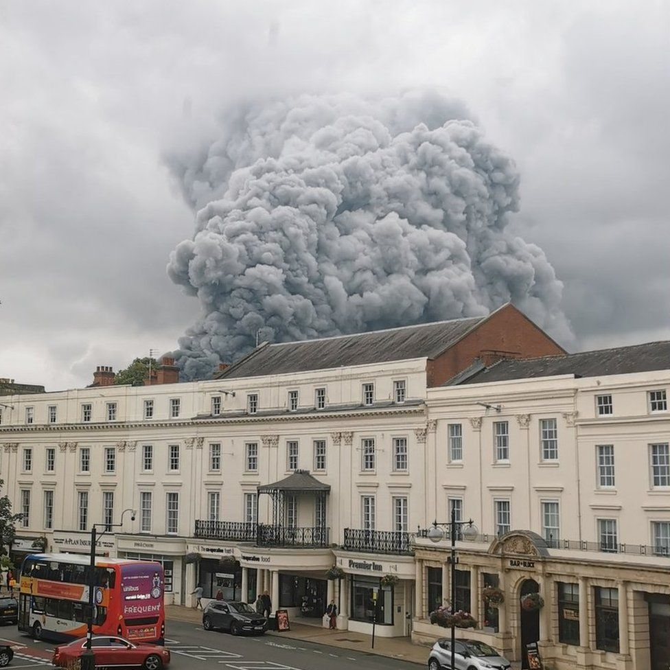 Fire above the Parade in Leamington Spa