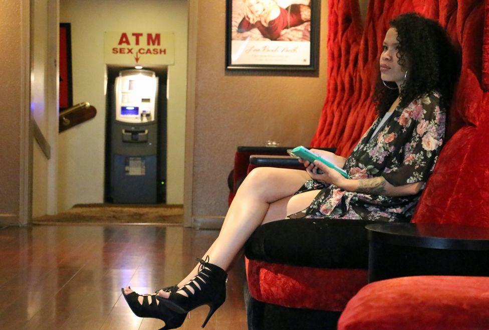 A sex worker waits
