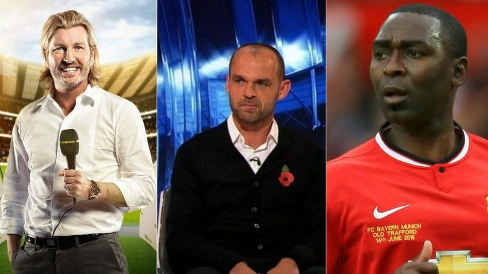 (Left to right) Robbie Savage, Danny Murphy and Andrew Cole