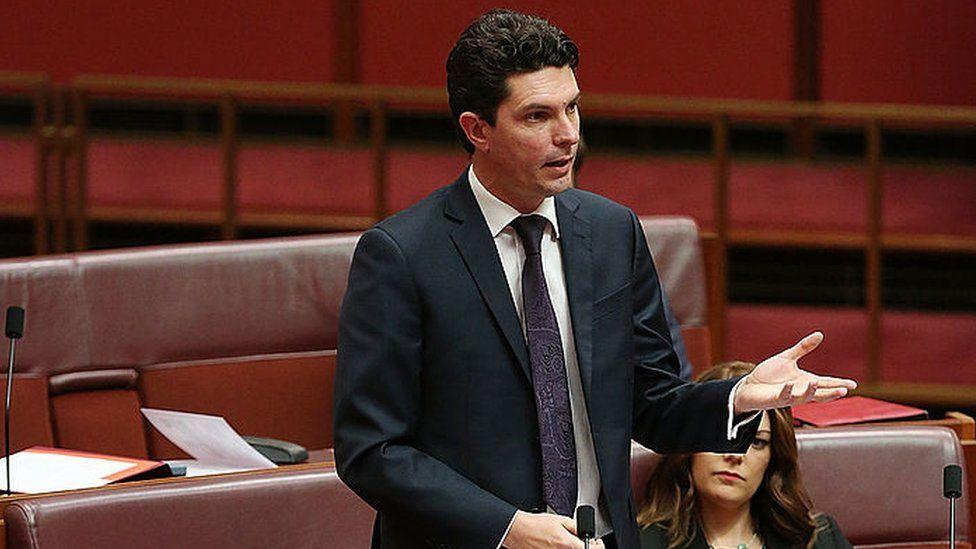 Scott Ludlam speaks in the Australian Senate