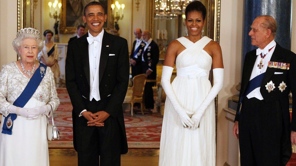 The Queen and Prince Philip hosted the Obamas for dinner in 2011