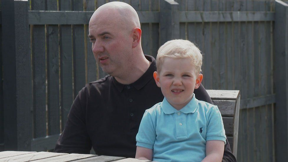 Ryan O'Donnell and his son Caleb
