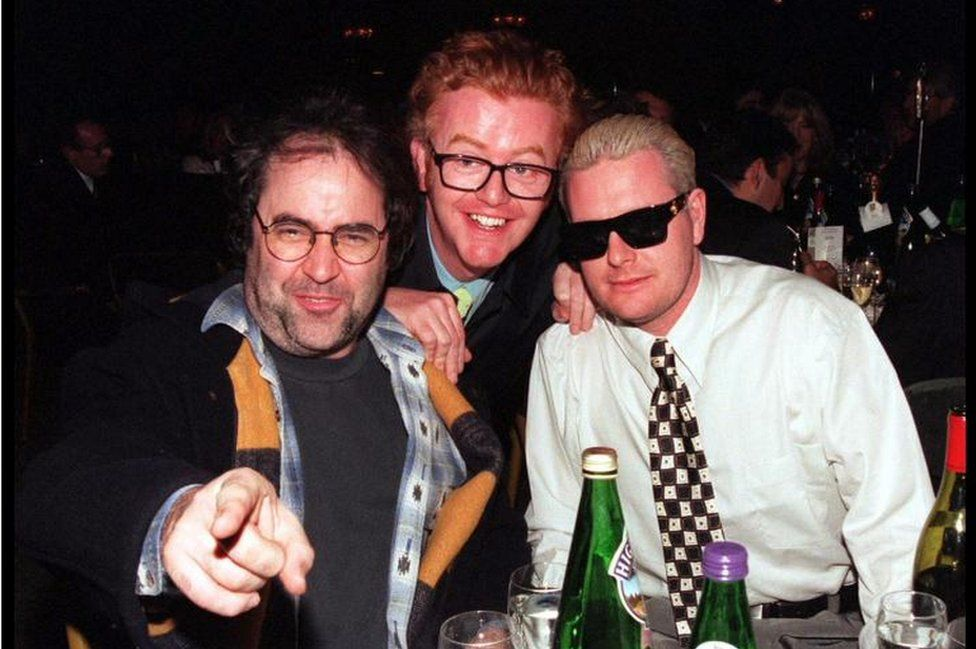 Danny Baker and Chris Evans with Gazza
