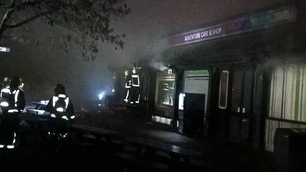 Fire at London Zoo