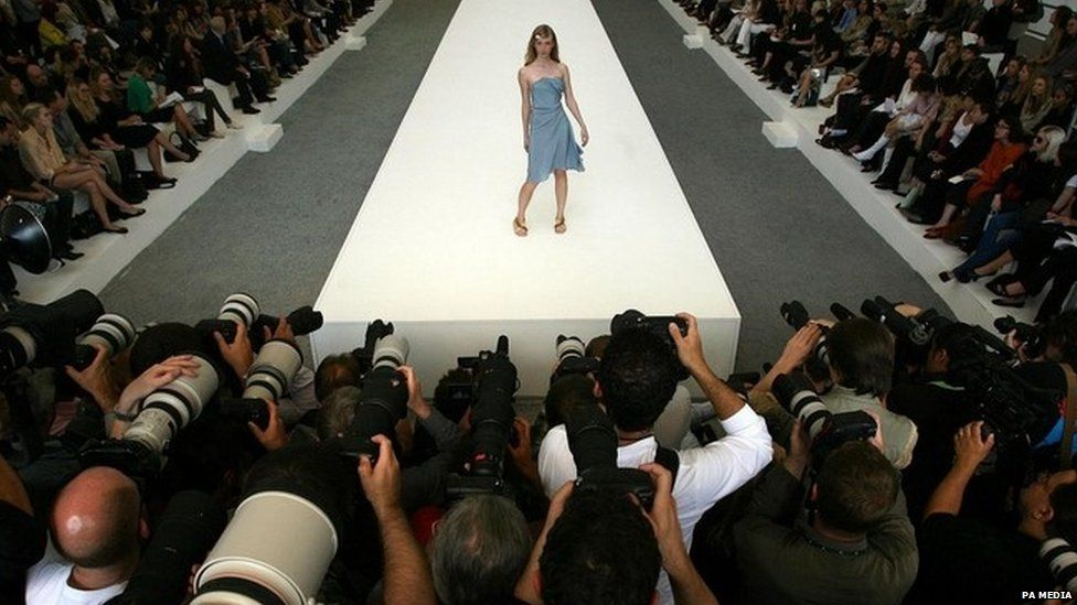 Model on a catwalk