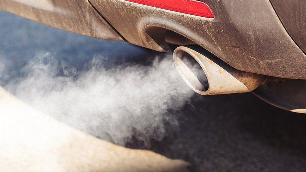 A car exhaust