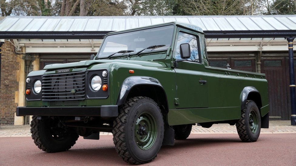 Front angle of Land Rover designed by Prince Philip