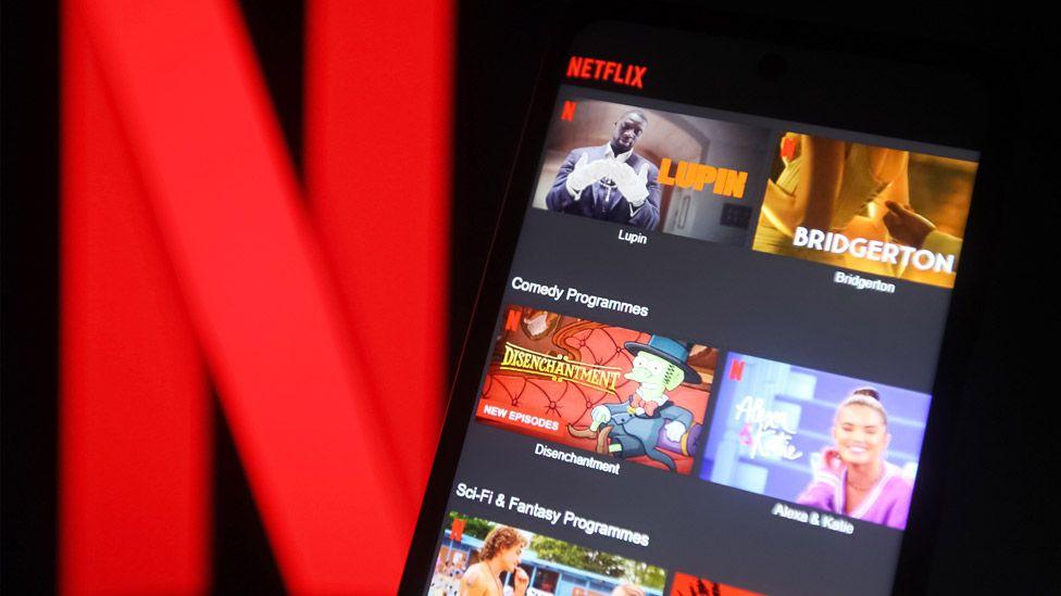 Netflix logo and screen