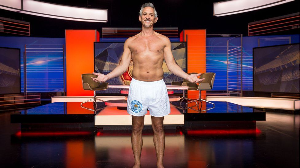 Gary Lineker on Match of the Day in his boxer shorts