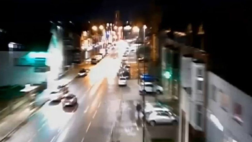 CCTV showing her on street