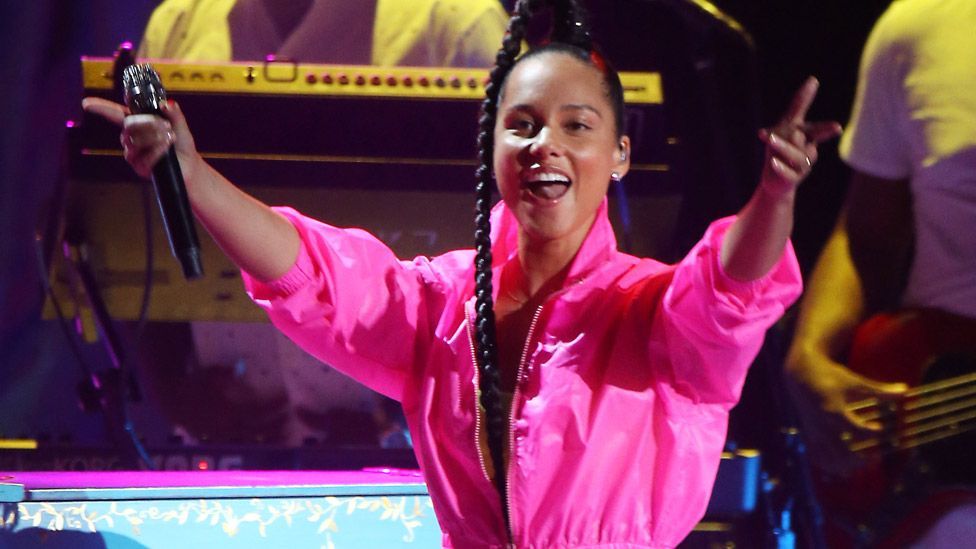 Alicia Keys on stage in 2019