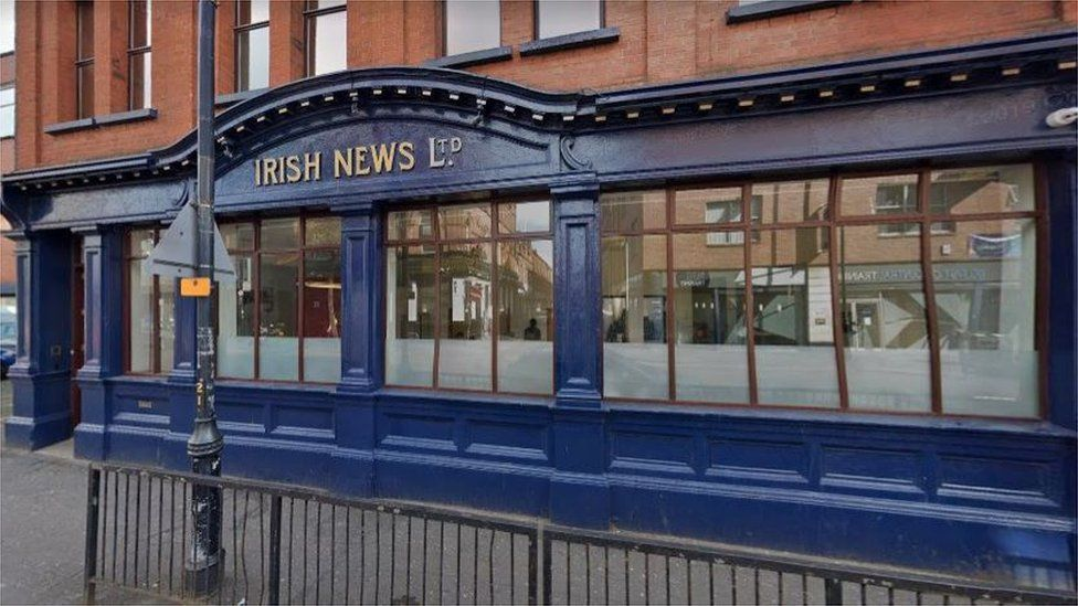 The exterior of the Irish News offices