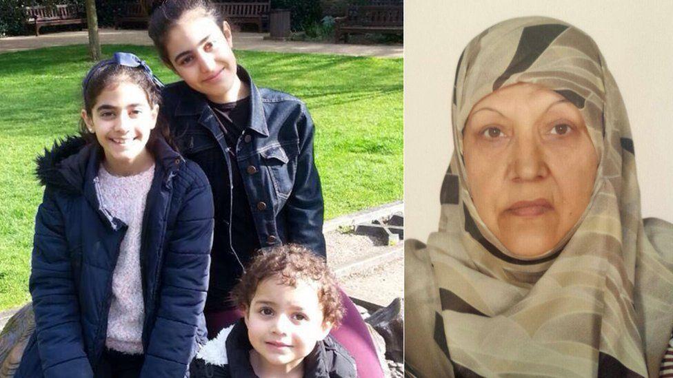 Girls and grandmother