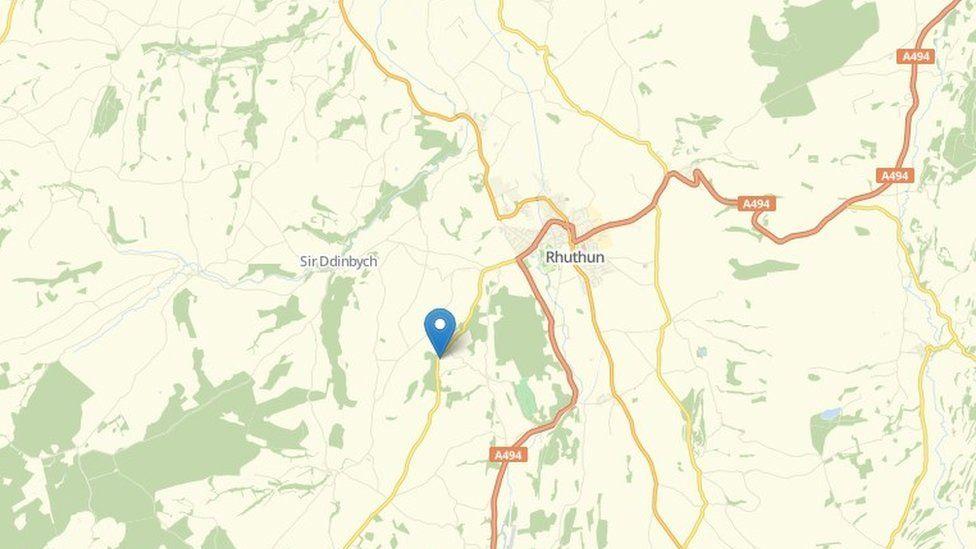 Map Efenechtyd