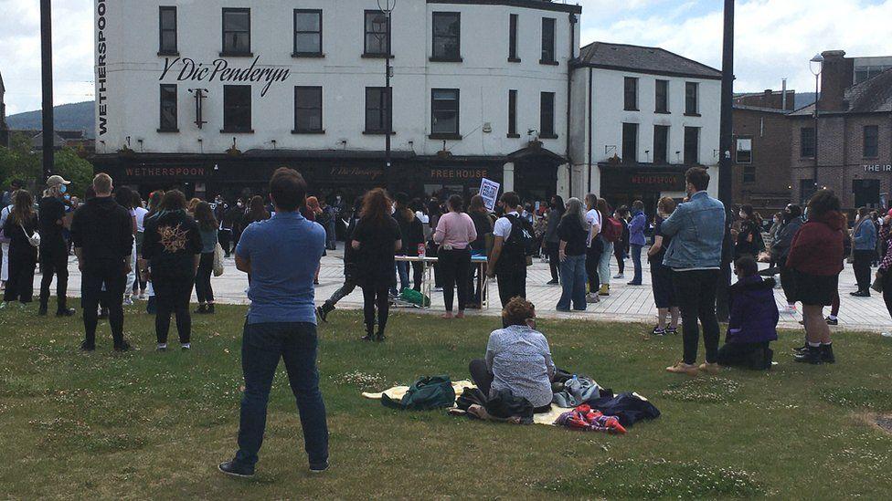 Protest in Merthyr Tydfil